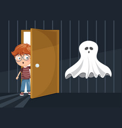 Of kid scaring vector