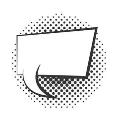 Pop art speech bubble comment halftone style vector