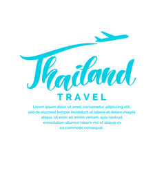 Poster and hand draw lettering thailand travel vector
