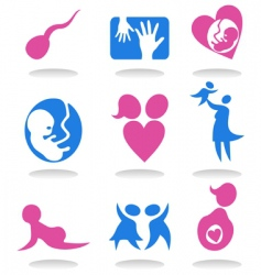 pregnancy icons vector image vector image