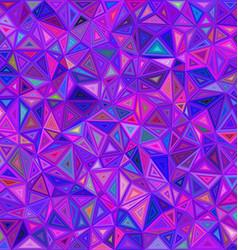 Purple irregular triangle mosaic background design vector image