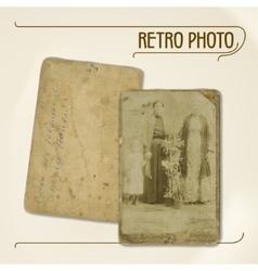 Retro photo vector