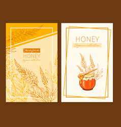 sainfoin honey print template yellow and orange vector image