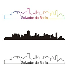 salvador de bahia skyline linear style vector image