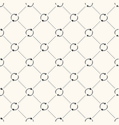 seamless pattern with simple recycle sign vector image