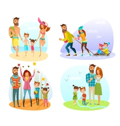 Season Family Set vector