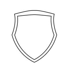 shield emblem symbol vector image