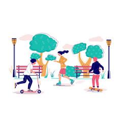 skate park flat style design vector image