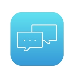 Speech bubble line icon vector image