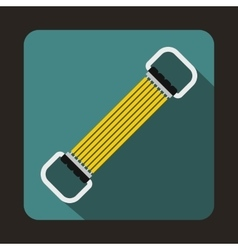 Sports stretchable belt icon in flat style vector