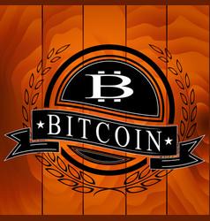 sticker of bitcoin symbol vector image