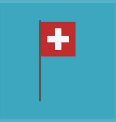 switzerland flag icon in flat design vector image