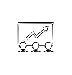 team achievements hand drawn sketch icon vector image
