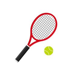 Tennis racket with ball icon of racquet for court vector