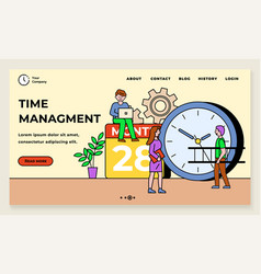 time management organization working space vector image
