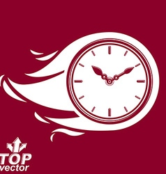 Timer with burning flame invert version included vector
