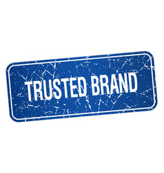 Trusted brand vector