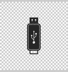 usb flash drive icon on transparent background vector image
