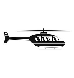 Utility helicopter icon simple style vector