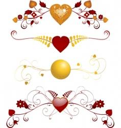 valentine floral flourishes vector image