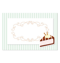 Vintage greeting card template filigree frame on vector