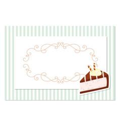 vintage greeting card template filigree frame on vector image