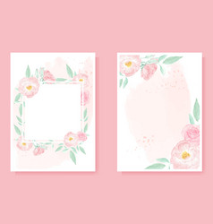 watercolor pink wild rose on pink splash vector image