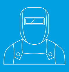 Welder icon outline style vector