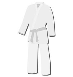 White kimono vector