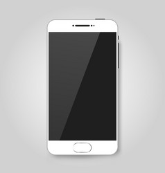 white mobile smart phone mock up game design vector image