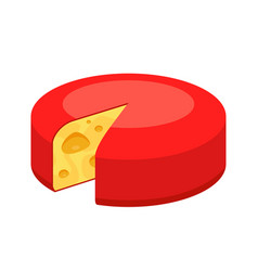 whole round cheese icon isolated on white vector image