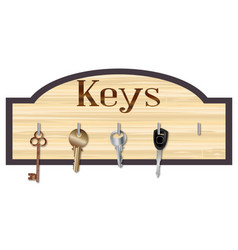 Wood key board vector