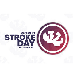 World stroke day october holiday concept vector