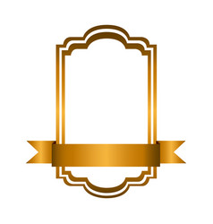 yellow square emblem icon vector image