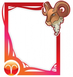 zodiac frame series aries vector image