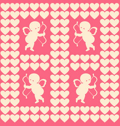 cupid and hearts for happy vector image