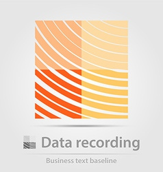 Data recording business icon vector image vector image
