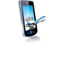 mobile plane vector image