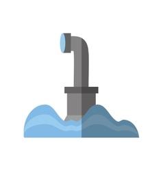 submarine periscope underwater ocean shadow vector image