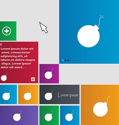 Bomb icon sign buttons modern interface website vector
