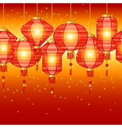 Chinese New Year seamless pattern with lanterns vector image