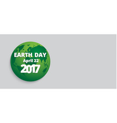 earth day banner lettering vector image