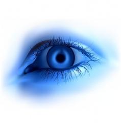 human blue eye vector image vector image