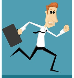Running cartoon office worker vector image