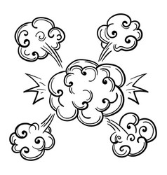 sketch of cartoon style bang vector image vector image