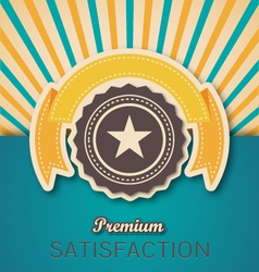Vintage Retro Premium Banner and Seal vector image