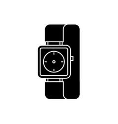 watch wrist icon black sign vector image vector image