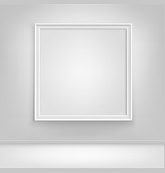empty white poster picture frame on wall vector image vector image