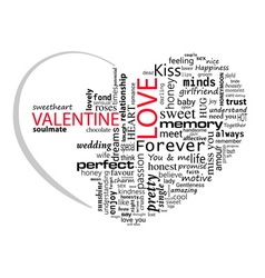 Valentines Day Perfect Love vector image vector image