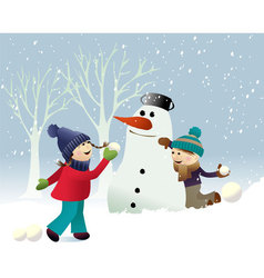 Winter snow games vector image vector image